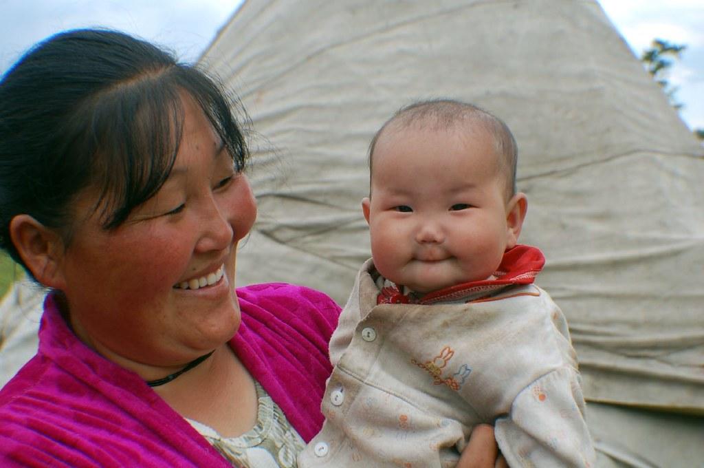 Tsaatan Mother and Child - Mongolia