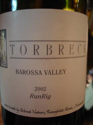 Torbreck: 2002 - Run Rig