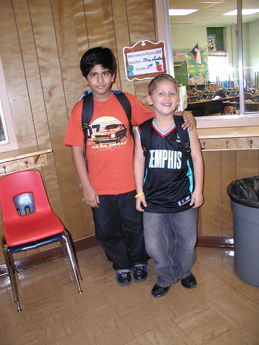 G & Aditya  6 -- First Day of School 2005-06