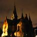 Sagene church at night by Geir Halvorsen