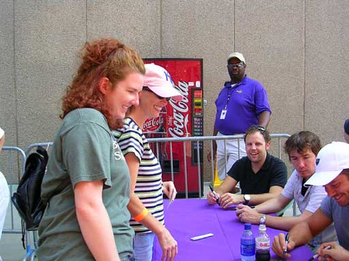Third Day - getting autographs