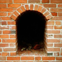 arch, wall, fireplace, brick, brickwork, hearth,