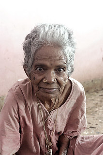 Elderly Woman - 01 (Chennai India, 7-20-05)