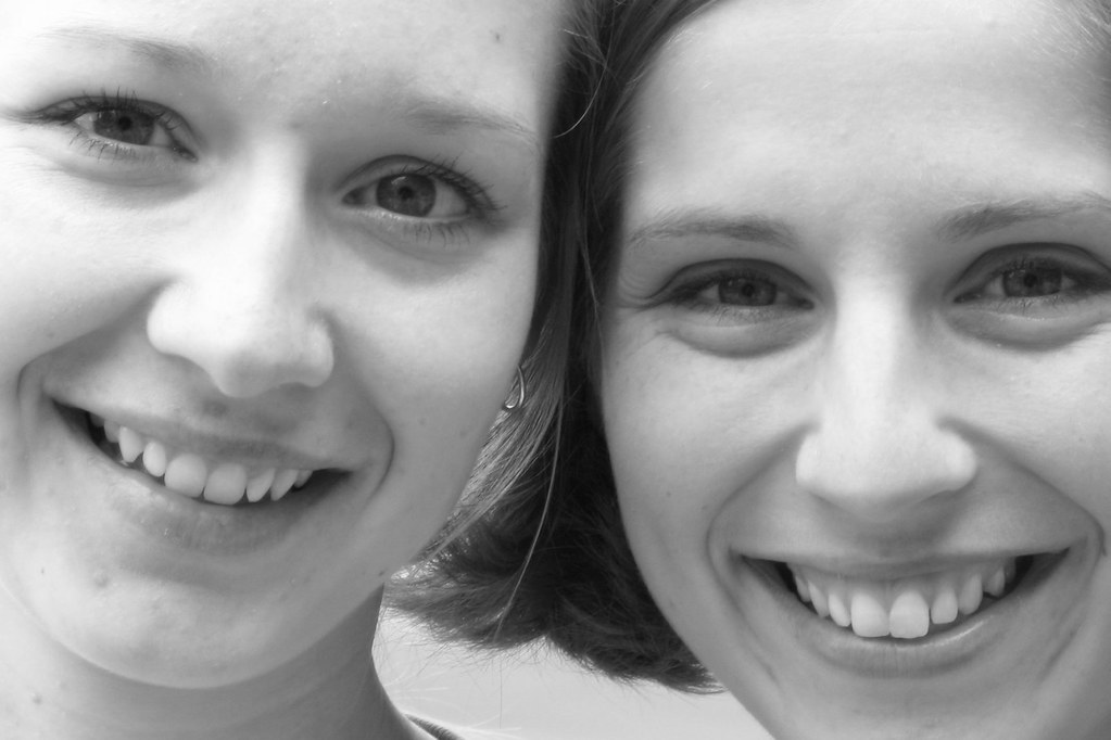 Sister smiles
