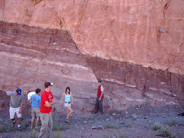 Normal Fault at the Moab Roadcut