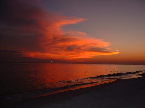 sunset beach clouds roadtrip gulfcoast