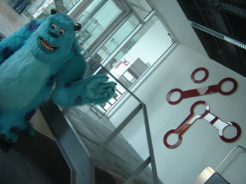 Sully greets you at the Innovation Lab, Copenhagen office