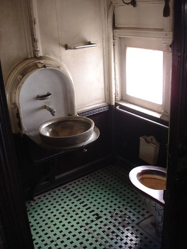 Toilet in 1890 Maharaja railway carriage