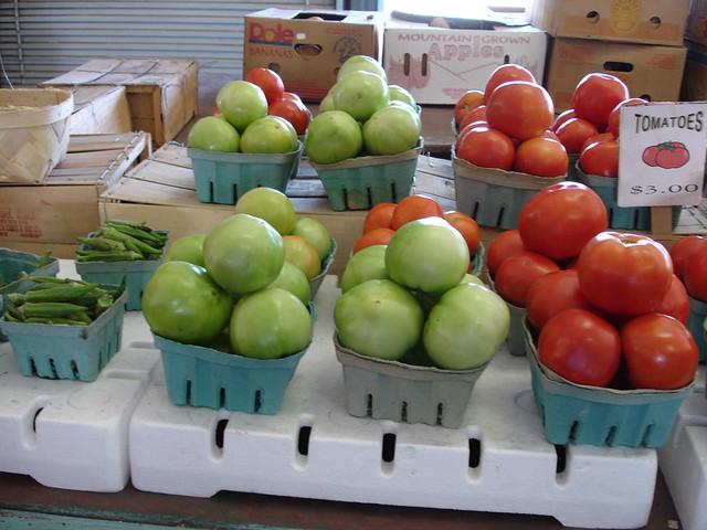 Red and Green Tomatoes, Jefferson County Farmer's Market, Birmingham AL