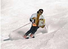 snowboarding(0.0), freestyle skiing(0.0), ski cross(0.0), snowboard(0.0), slalom skiing(0.0), ski equipment(1.0), winter sport(1.0), footwear(1.0), ski(1.0), sports(1.0), snow(1.0), extreme sport(1.0), downhill(1.0), telemark skiing(1.0),