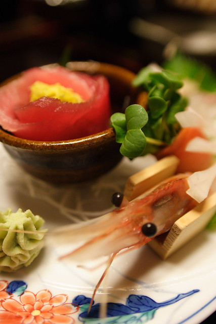 sashimi (tuna & shrimp)