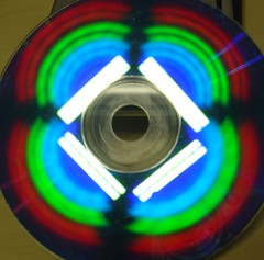light, neon, compact disc, circle,