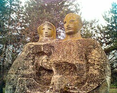 chainsaw carving(0.0), gautama buddha(0.0), carving(1.0), art(1.0), ancient history(1.0), sculpture(1.0), monument(1.0), statue(1.0), archaeological site(1.0),
