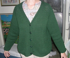 jacket(0.0), art(1.0), wool(1.0), clothing(1.0), sleeve(1.0), outerwear(1.0), knitting(1.0), woolen(1.0), cardigan(1.0), sweater(1.0),