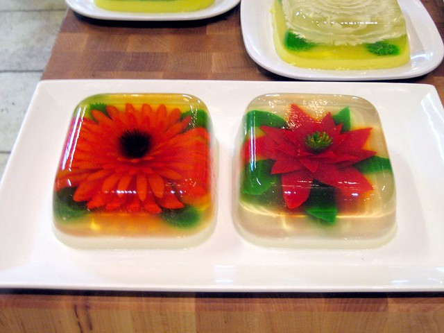 Jello Art Flowers http://www.flickr.com/photos/bleucaldwell/457358192/