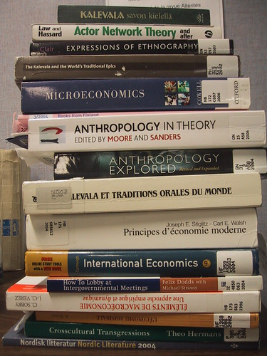 Academic Book Stack by phonono, on Flickr