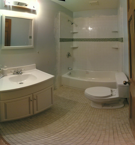 Bathroom work is all but done
