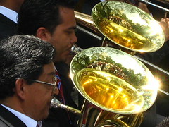 trumpet(0.0), drums(0.0), musician(1.0), tuba(1.0), trombone(1.0), musical instrument(1.0), music(1.0), brass instrument(1.0),