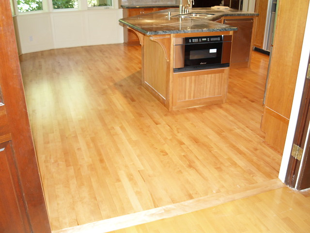 Refinishing Maple Floors : Refinish Maple hardwood floor custom stained  Flickr - Photo Sharing!