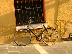 Bike on orange