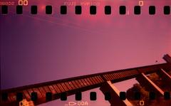 Rail on purple skies