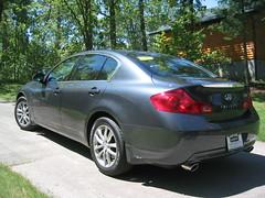 coupã©(0.0), automobile(1.0), automotive exterior(1.0), executive car(1.0), wheel(1.0), vehicle(1.0), rim(1.0), infiniti g(1.0), bumper(1.0), sedan(1.0), personal luxury car(1.0), infiniti(1.0), land vehicle(1.0), luxury vehicle(1.0),
