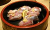 Aji Sushi from Uo-gashi, Odawara Japan.