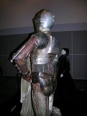 art(0.0), iron man(0.0), machine(0.0), sculpture(0.0), bust(0.0), costume(0.0), armour(1.0), clothing(1.0), statue(1.0),