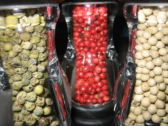 Red, White, and Green Peppercorns