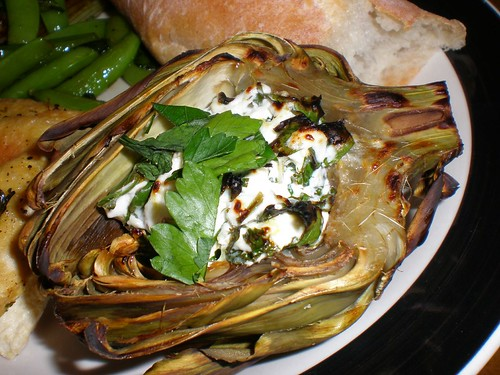 artichoke with goat cheese