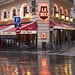 Rita Crane Photography: Paris / historic cafe / Left Bank / rain / street / reflections / Le Buci, Paris