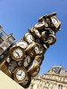 Saint Lazare Clock Sculpture.  Time Passes in Paris