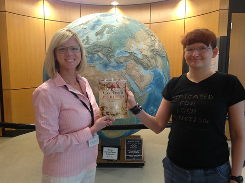 Allen County Librarian Megan Bell (left) with Meaghan Good.