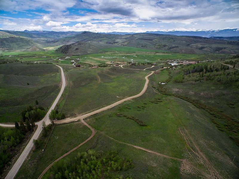 Drone View of C Lazy U Ranch in Colorado