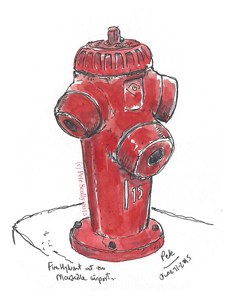 Hydrant at Marseille airport