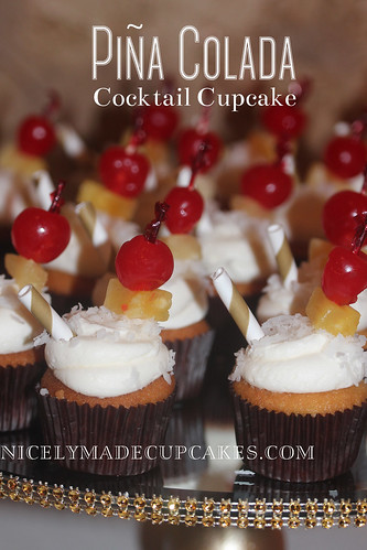 Wilson wedding.pina colada cupcake