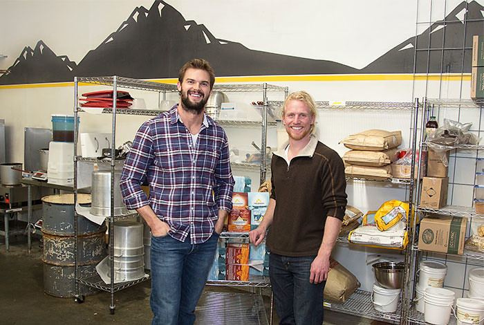 Taos Mountain Energy Foods CEO Kyle Hawari and president Brooks Thostenson (from left).