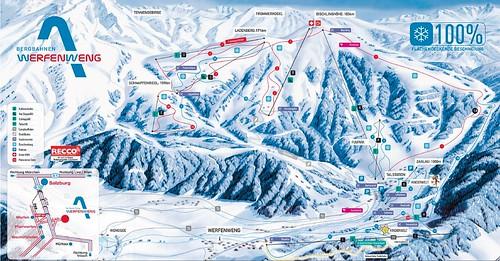 Werfenweng - mapa sjezdovek