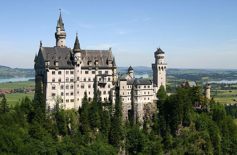 Neuschwanstein Castle, view from south