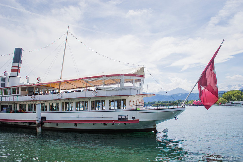 Boat on Lake Lucerne Switzerland