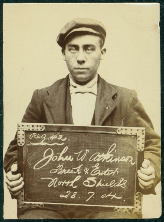 John William Atkinson, arrested for breaking and entering