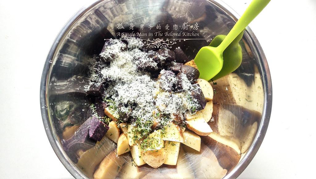 孤身廚房-香草烤雙色馬鈴薯──好吃又簡單的烤箱料理6