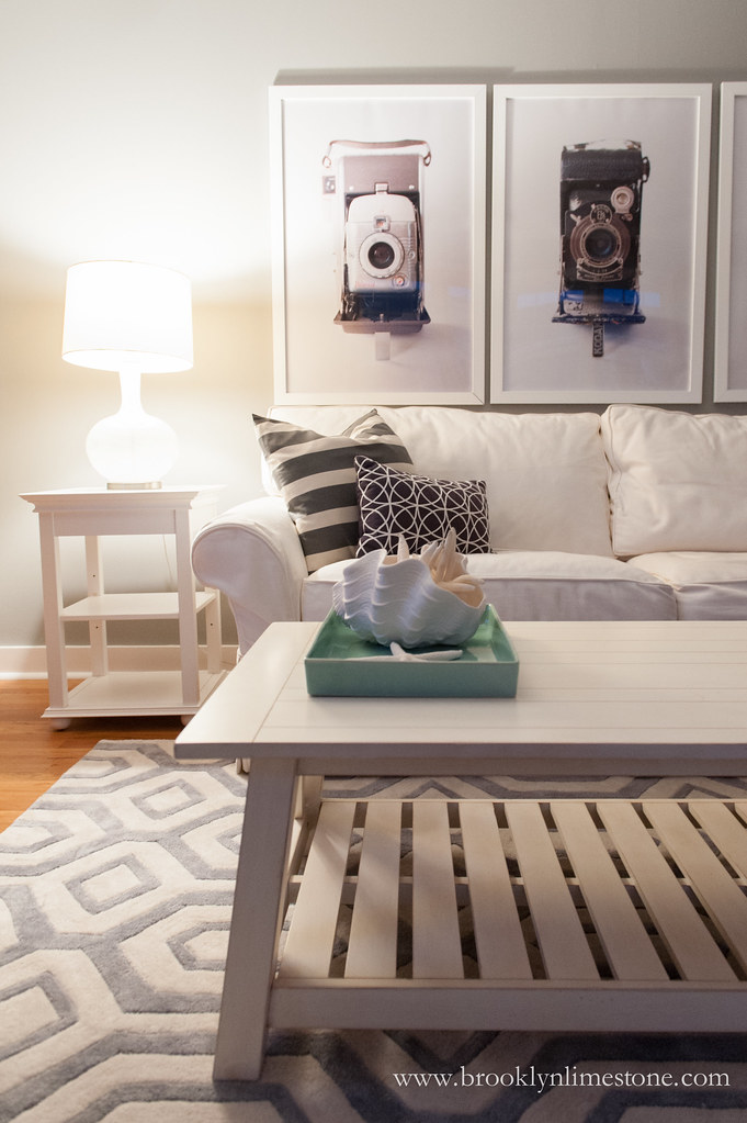grey and white living room