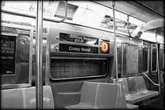 This is a Manhattan-bound D train, next stop Kingsbridge Road