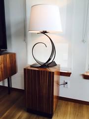 Zebra Wood Pedestal