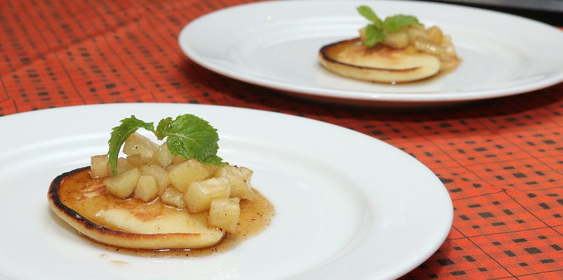 Apple and Cinnamon Pancake