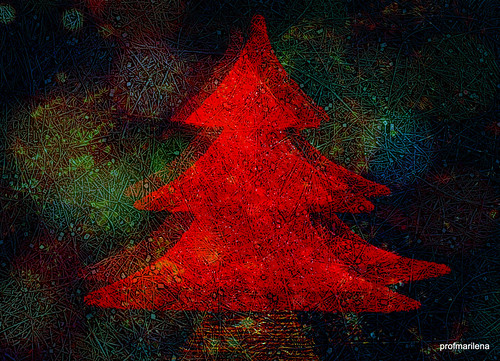 collage 21  red Xmas tree