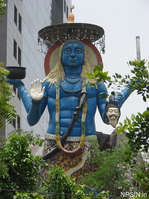 Large Kaal Bhairav statue with full view