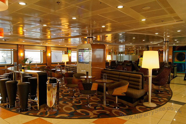 Stena Mersey - Barista, central seating area.
