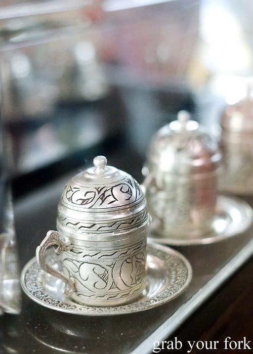 Turkish coffee cups at Hakiki Turkish Ice Cream, Newtown
